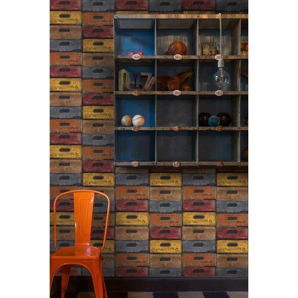 Dutch Wallcoverings Exposed Warehouse laden kleur