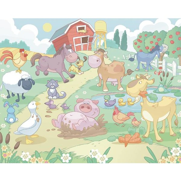 Dutch Wallcoverings Walltastic Baby Fun on the Farm 12 delig