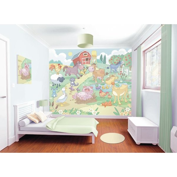 Dutch Wallcoverings Walltastic Baby Fun on the Farm fotobehang