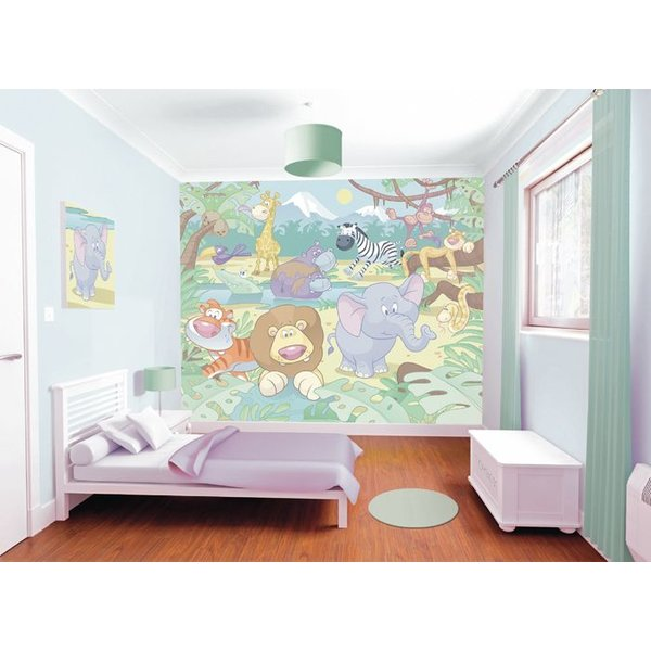 Dutch Wallcoverings Walltastic Baby Jungle Safari fotobehang