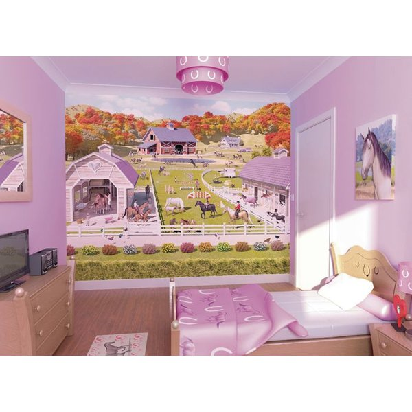Dutch Wallcoverings Walltastic Horse and Pony Stables fotobehang