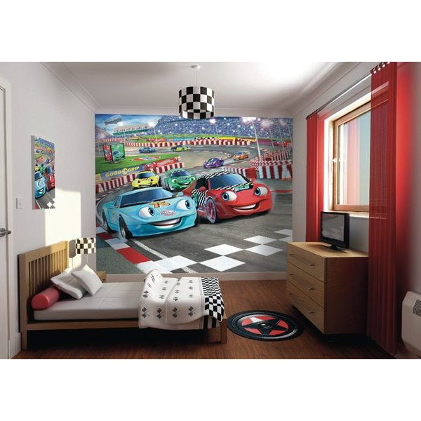 Dutch Wallcoverings Walltastic 3D Car Racers fotobehang