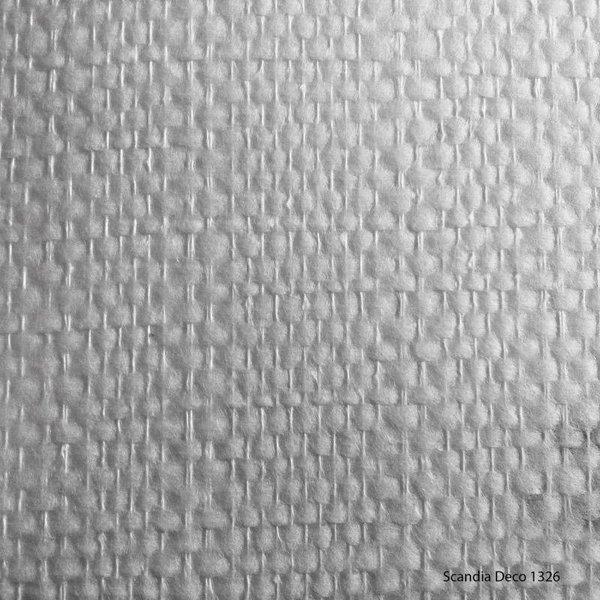Scandia Glasweefselbehang Deco 1326 – Niet Voorgeschilderd – Ruit/Blok Strepen - 25m2
