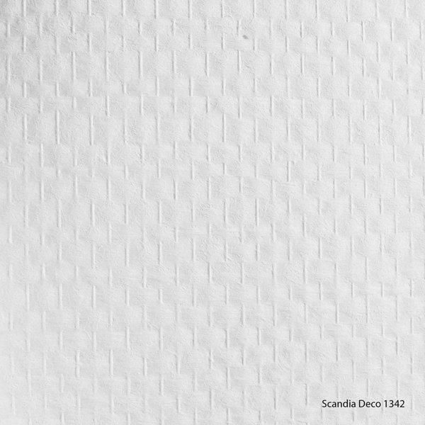 Scandia Glasweefselbehang Deco 1342 – Voorgeschilderd – Ruit Standaard - 25m2