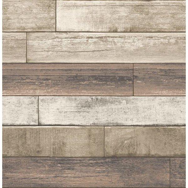Dutch Wallcoverings Reclaimed verweerd hout beige grijs