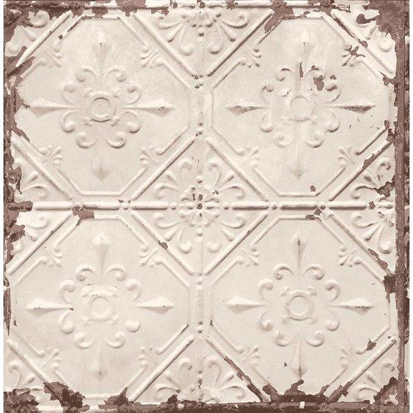 Dutch Wallcoverings Reclaimed vintage tegel behang Off-white