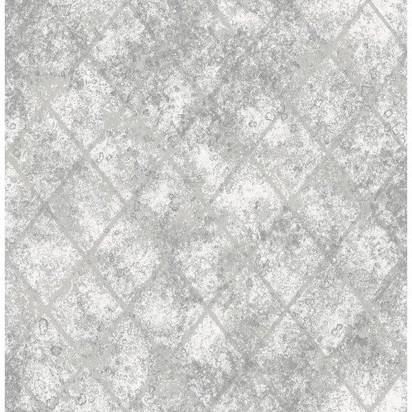 Dutch Wallcoverings Reclaimed metallic behang grijs