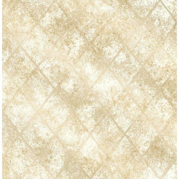 Dutch Wallcoverings Reclaimed metallic behang geel