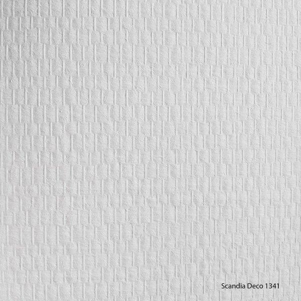 Scandia Glasweefselbehang Deco 1341 – Voorgeschilderd – Fijne Ruit - 1m2