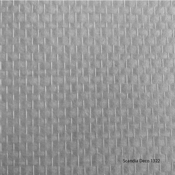 Scandia Glasweefselbehang – Deco 1322 – Niet Voorgeschilderd – Ruit - 1m2