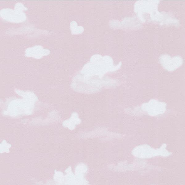 Dutch Wallcoverings Happy Kids Wolken roze wit
