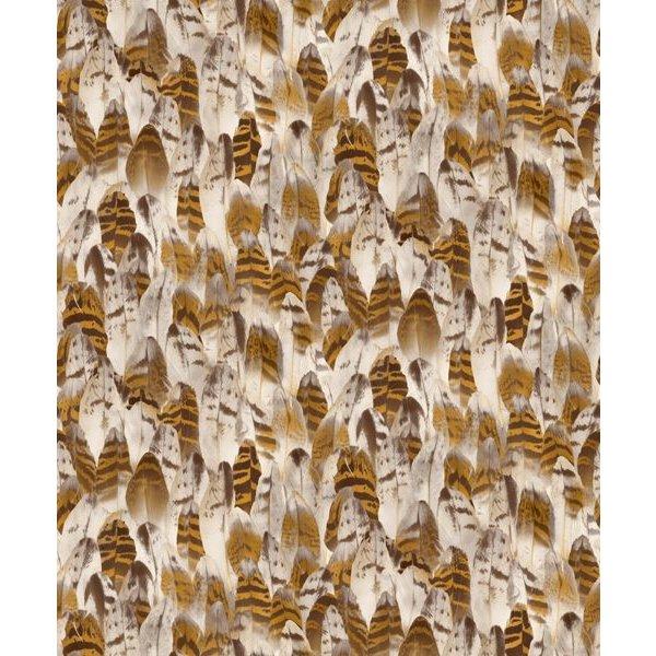 Dutch Wallcoverings Soft & Natural veren bruin