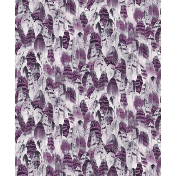 Dutch Wallcoverings Soft & Natural veren paars