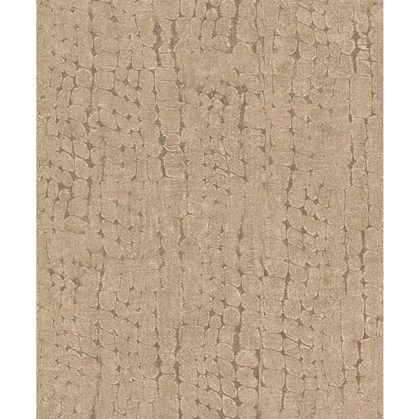 Dutch Wallcoverings Soft & Natural Croco bruin