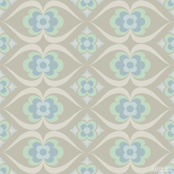 Noordwand Cozz Smile retro beige blauw mint