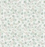 Noordwand Cozz Smile bloemetjes blauw groen  61163-05