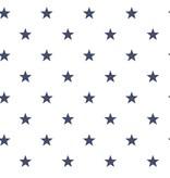 Noordwand Deauville kleine sterren wit marine blauw G23101