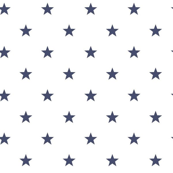 Deauville kleine sterren wit marine blauw