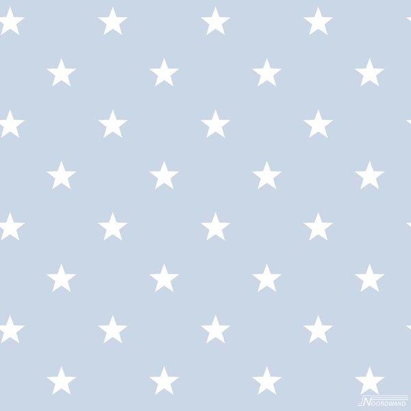 Noordwand Deauville kleine sterren lichtblauw wit