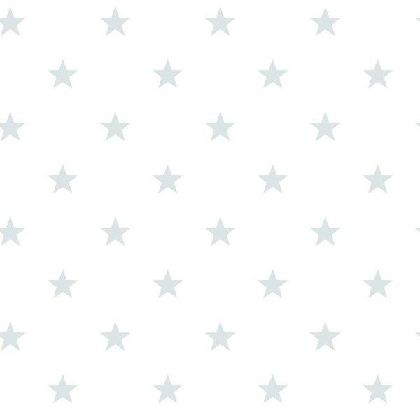Noordwand Deauville kleine sterren wit mint