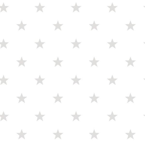 Noordwand Deauville kleine sterren wit grijs