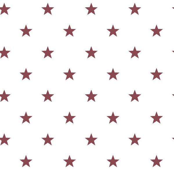 Noordwand Deauville kleine sterren wit bordeaux rood