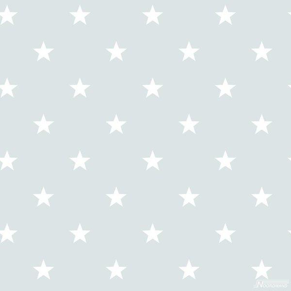 Noordwand Deauville kleine sterren mint wit