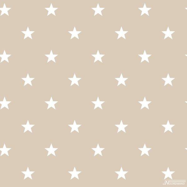 Noordwand Deauville kleine sterren beige wit G23112