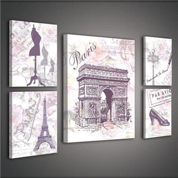 Canvas set Parijs 1810S14