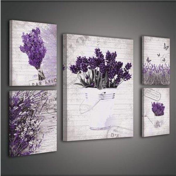Canvas set Bloemen 1809S14