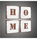 Dutch Wallcoverings Canvas set Home wit/beige 2015S20