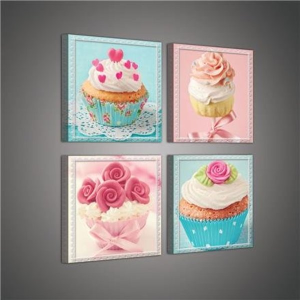 Dutch Wallcoverings Canvas set Cupcakes 2018S20