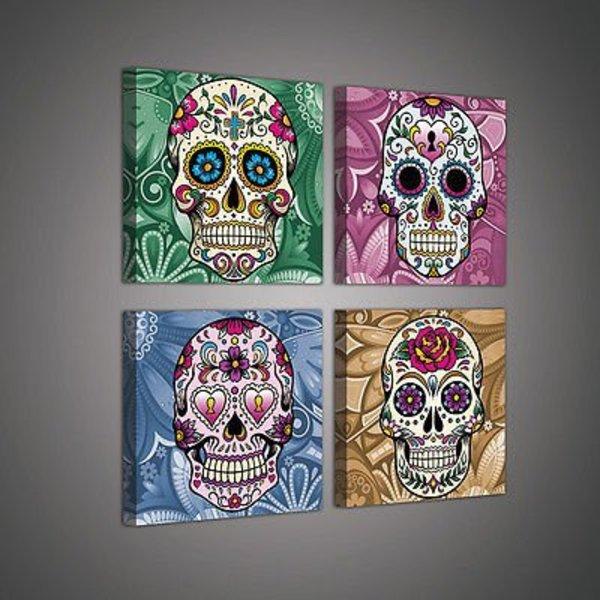 Dutch Wallcoverings Canvas set Skulls 2022S20