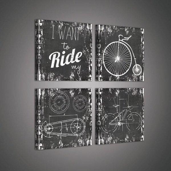 Canvas set Krijtbord fiets 2025S20