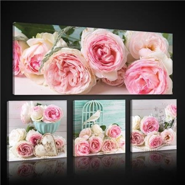 Canvas set Roze Rozen 2576S20