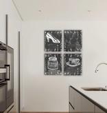 Dutch Wallcoverings Canvas set Krijtbord 2024S20