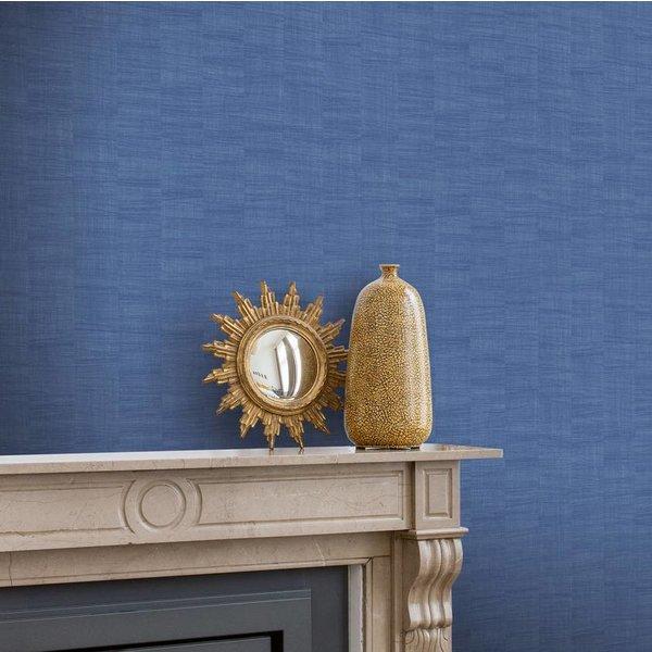 Dutch Wallcoverings Bontanical uni blauw BA1006