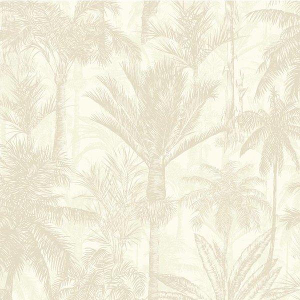 Dutch Wallcoverings Botanical Palmbomen beige/wit