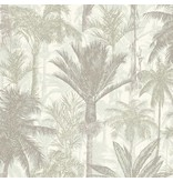 Dutch Wallcoverings Bontanical Palmbomen grijs/wit BA2302