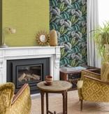 Dutch Wallcoverings Bontanical Bladeren donker blauw/groen BA2404