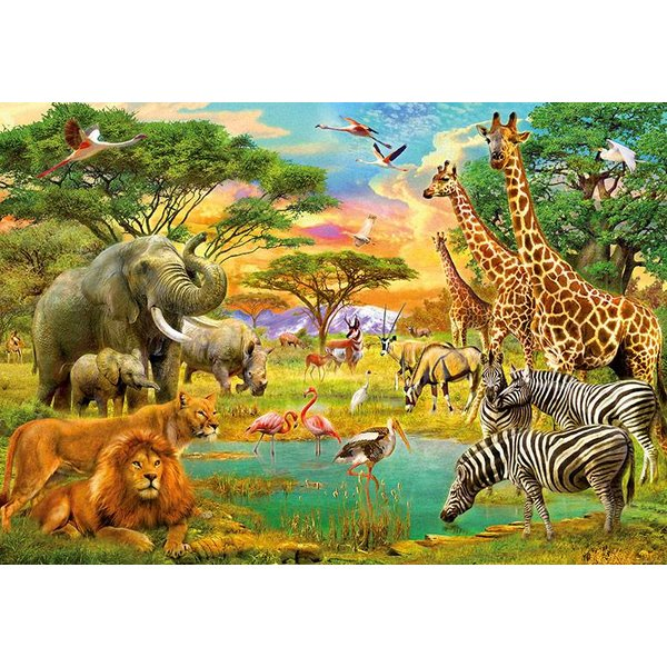 Dutch Wallcoverings Wizard & Genius fotobehang African Animals