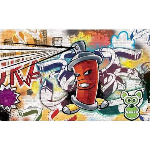 Dutch Wallcoverings Fotobehang Graffiti spuitbus