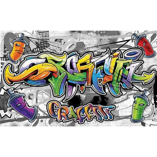 Dutch Wallcoverings Fotobehang Graffiti tekening