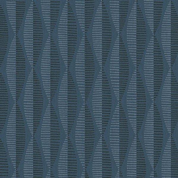 A.S. Creation Around the World Geometrisch design donker blauw