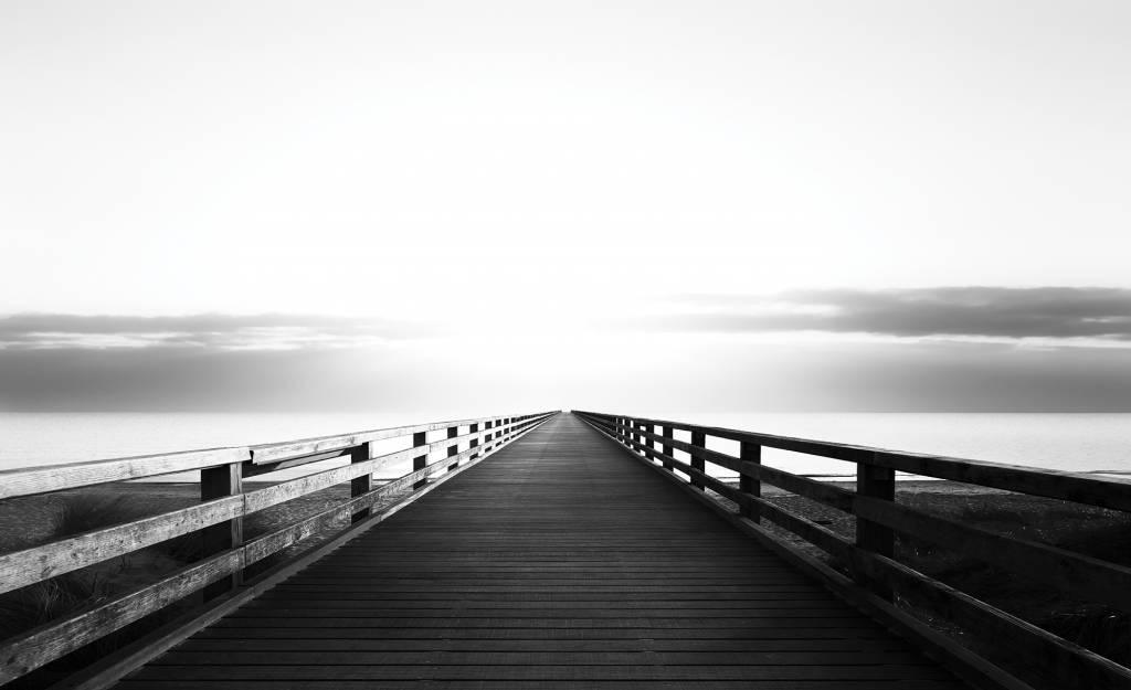 fotobehang steiger zwart/wit - de behangwinkelier