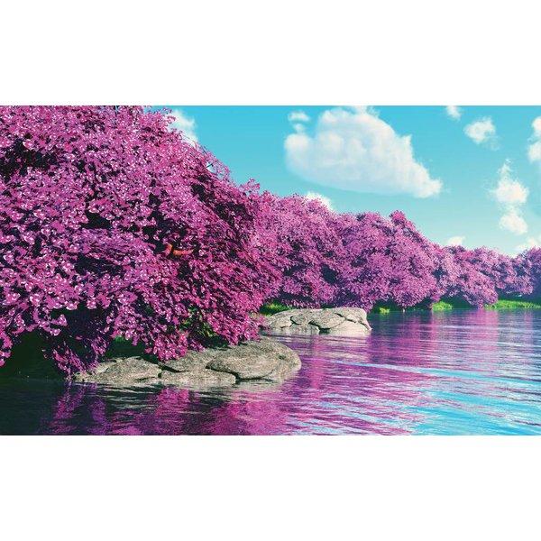 Dutch Wallcoverings Fotobehang Bomen aan het meer