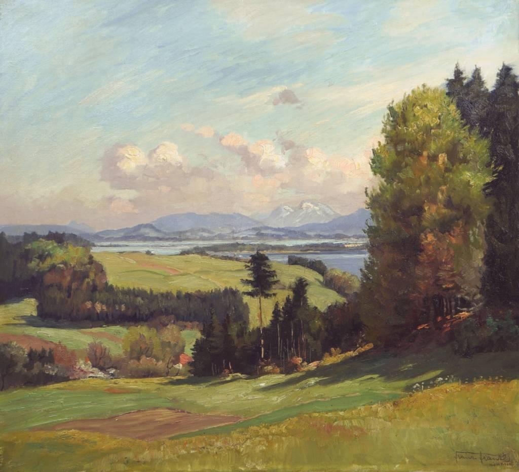 Franz Frankl (1881 - 1940) » Öl-Gemälde Münchner Maler Voralpenlandschaft süddeutsche Malerei