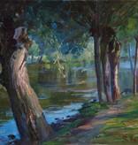 Clara Rettich (1860 - 1916) » Öl-Gemälde Impressionismus Jugendstil Landschaft