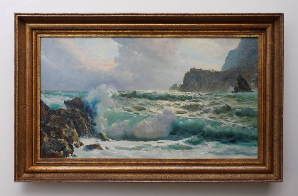 Salvatore Federico (*1936) » Öl-Gemälde Spätimpressionismus Italien Capri Meer italienische Küstenlandschaft
