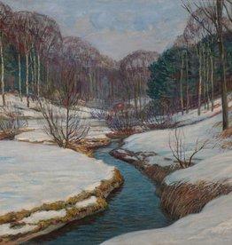 Ernst Miesler (1879 - 1948) » Öl-Gemälde Winter Wald Landschaft Jugendstil Secession Düsseldorfer Malerschule